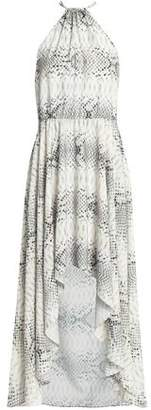 Haute Hippie Snake-Print Crepe De Chine Midi Dress