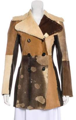 Dolce & Gabbana Leather-Trimmed Colorblock Coat