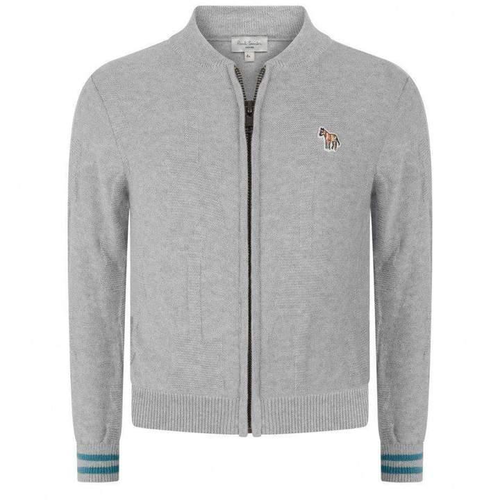 JuniorBoys Grey Zip Up Cardigan