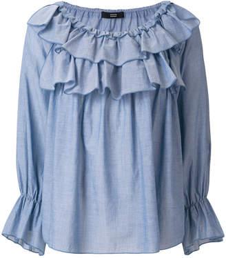 Steffen Schraut layered frill blouse