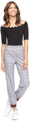 Milly EXCLUSIVE CHECK SUITING JOGGER