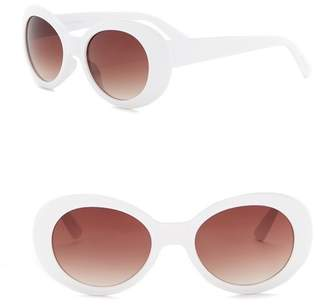 Steve Madden 50mm Oval Sunglasses