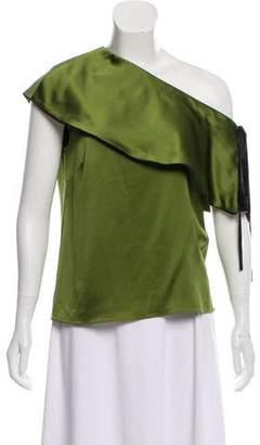 Hellessy One Shoulder Silk Top w/ Tags