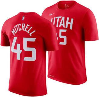 Nike Men Donavan Mitchell Utah Jazz City Player T-Shirt 2018
