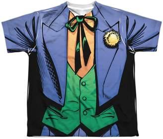 Batman DC Comics Superhero Joker Costume Big Boys Front Print T-Shirt Tee