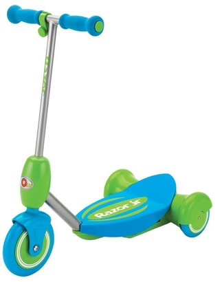 Razor Lil' E Triple Wheel Electric Scooter with Soft-Start Go Button Blue