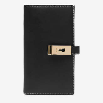 Bally Amber Black, Women's plain calf leather wallet in black