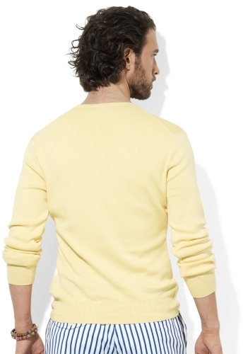 Polo Ralph Lauren Pima Cotton V-Neck Sweater