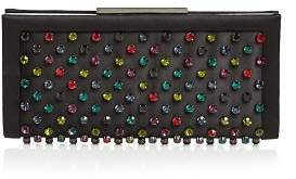 Sondra Roberts Medium Rhinestone-Embellished Satin Clutch Crossbody