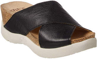 Fly London Wary Leather Wedge Sandal