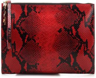 Marni Python Effect Zipped Clutch