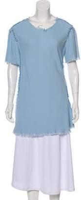 Raquel Allegra Short Sleeve Crepe Tunic