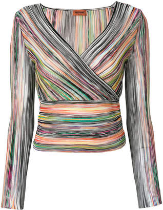Missoni striped wrap top