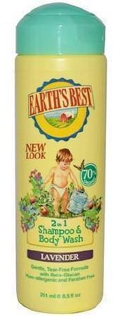 Earth's Best 2 in 1 Shampoo & Body Wash Lavender