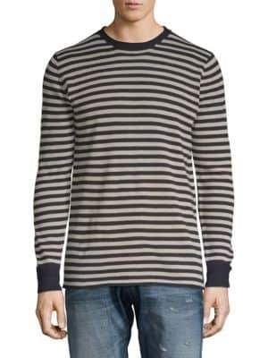 Scotch & Soda Striped Crewneck Pullover