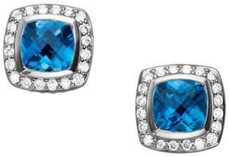 David Yurman Petite Albion Earrings, Blue Topaz, 7mm