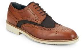 Leather & Canvas Wingtip Oxfords
