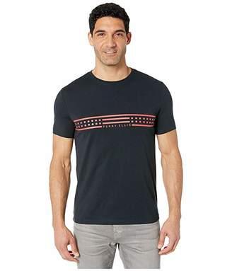 Perry Ellis Portfolio Chest Stripe Graphic Print Tee Shirt