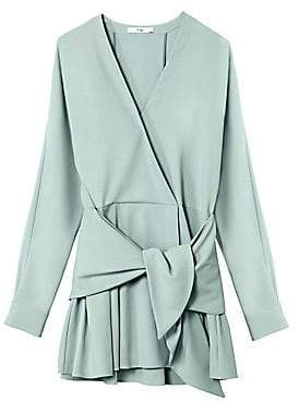 Tibi Women's Chalky Drape Front Tie Dress