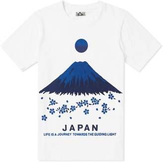 Blue Blue Japan Mt Fuji Sakura Tee