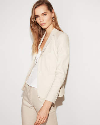 Express Linen-Blend One Button Blazer