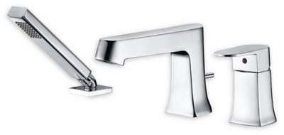 Bed Bath & Beyond ANZZI Rin 3-Piece Widespread Deck-Mount Roman Tub Faucet Set in Polished Chrome
