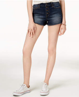American Rag Juniors' Button-Fly Denim Shorts, Created for Macy's