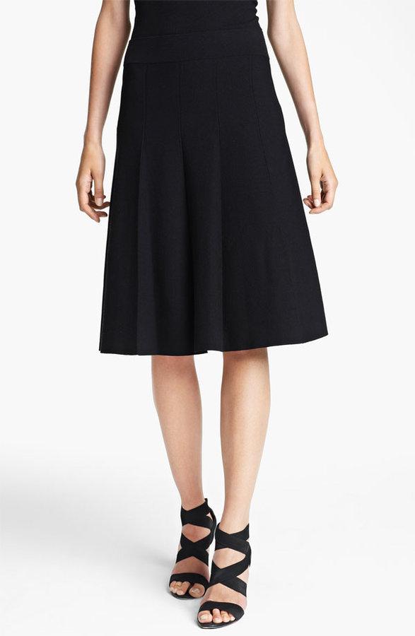 Donna Karan Flared Jersey Skirt