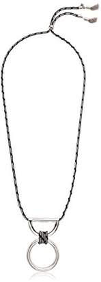 Rebecca Minkoff Climbing Rope Pendant with Metal Drop Necklace