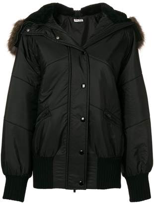 Miu Miu hooded quilted jacket
