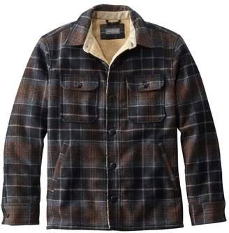 L.L. Bean L.L.Bean Men's Signature Lined Wool-Blend Shirt Jacket, Slim Fit Plaid