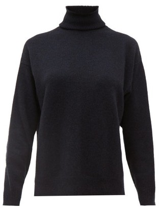 Officine Generale Alma Roll Neck Cashmere Sweater - Womens - Navy