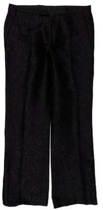 Gucci Floral Jacquard Flat Front Pants