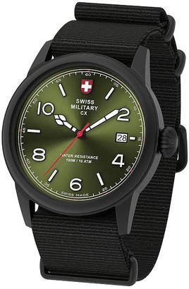 Swiss Military BY CHARMEX By Charmex Vintage Mens Black Strap Watch-78335_8_H