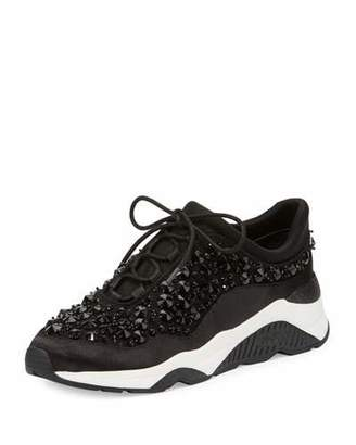 Ash Muse Beaded Lace-Up Sneaker, Black $245 thestylecure.com
