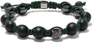 Black Diamond Shamballa Jewels 18kt white gold and Star of Shamballa bead bracelet