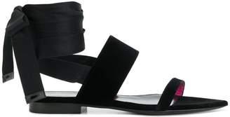 Saint Laurent ankle wrap sandals