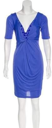 Blugirl Embellished Short Sleeve Midi Dress