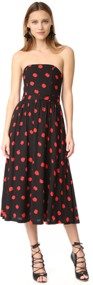 alice + olivia Belva Strapless Midi Dress $350 thestylecure.com