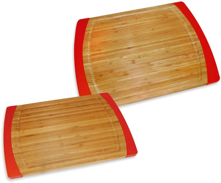 Bamboo Non-Slip Cutting Boards in Red