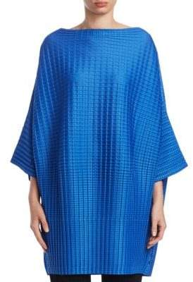 Pleats Please Issey Miyake Arare Square Pleat Poncho