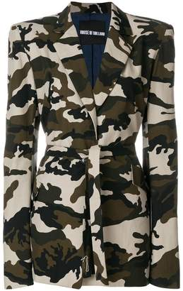 House of Holland camouflage tailored coat