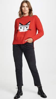 Markus Lupfer Megan Intarsia Cat Sweater