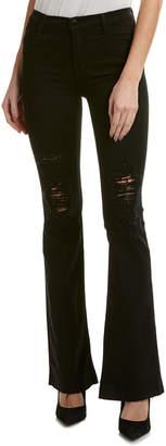 J Brand Maria Bashed Black Flare Leg
