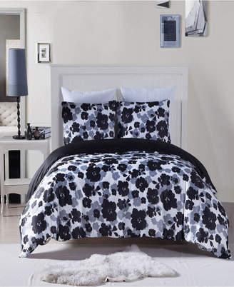 Lyla 3-Pc. Full/Queen Satin Duvet Set Bedding