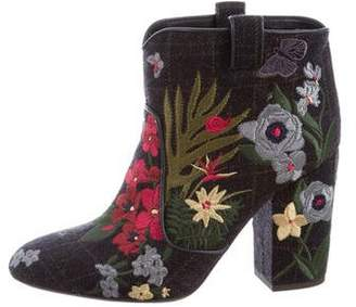Laurence Dacade Embroidered Pete Tropicale Ankle Boots w/ Tags