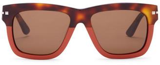 Valentino Women's Square Acetate Sunglasses $426 thestylecure.com