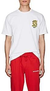 Kenzo Men's Embroidered-Dragon Cotton T-Shirt - White