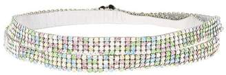 We11done embellished double strap choker