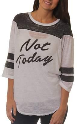 Freeze Women's Not Today Graphic Football T-Shirt